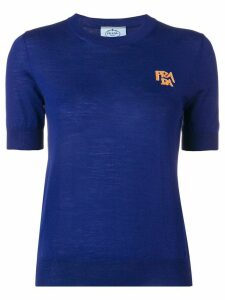 Prada chest logo T-shirt - Blue