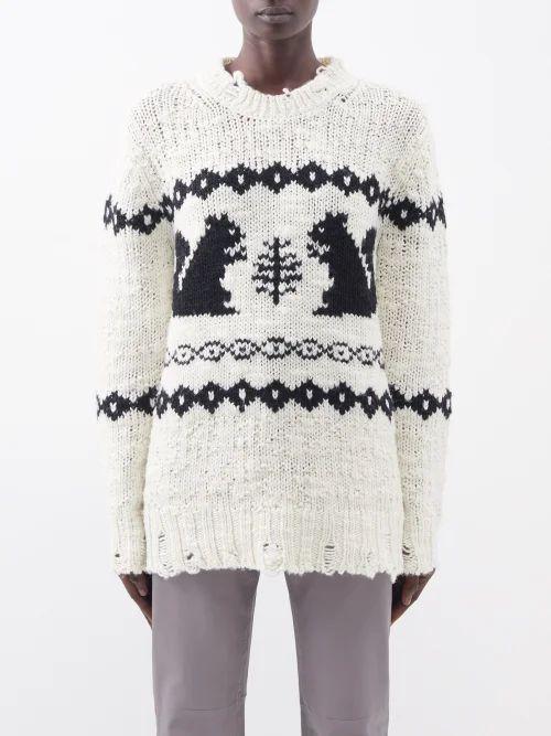 Rochas - Metallic Brocade Satin Clutch - Womens - Blue Multi