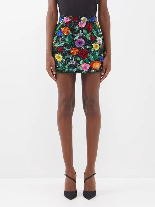 Three Graces London - Emma Shirred Waist Cotton Midi Dress - Womens - Light Brown