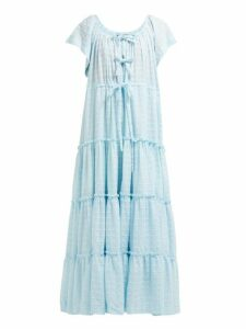 Innika Choo - Alotta Güd Tiered Maxi Dress - Womens - Light Blue