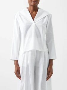 Three Graces London - Prudence Cotton Cheesecloth Dress - Womens - Green