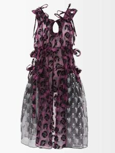 Brock Collection - Olivia Floral Print Silk Organza Gown - Womens - White Multi