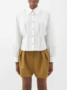 Temperley London - Star Velvet Devoré Wrap Front Gown - Womens - Navy Multi