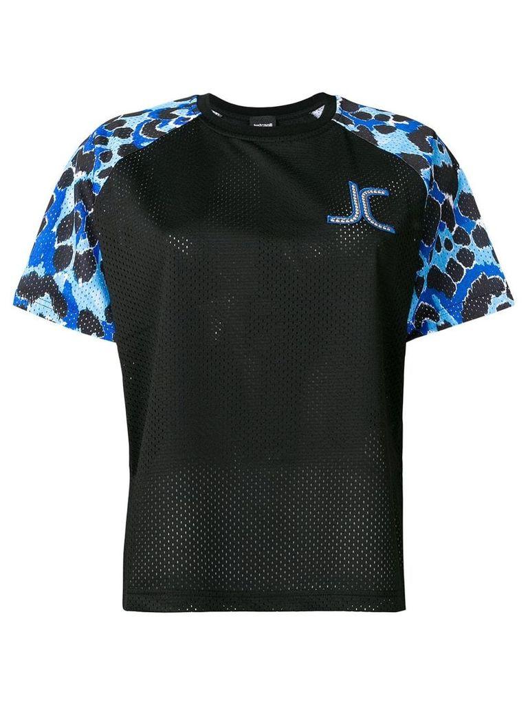 Just Cavalli leopard print sport T-shirt - Black