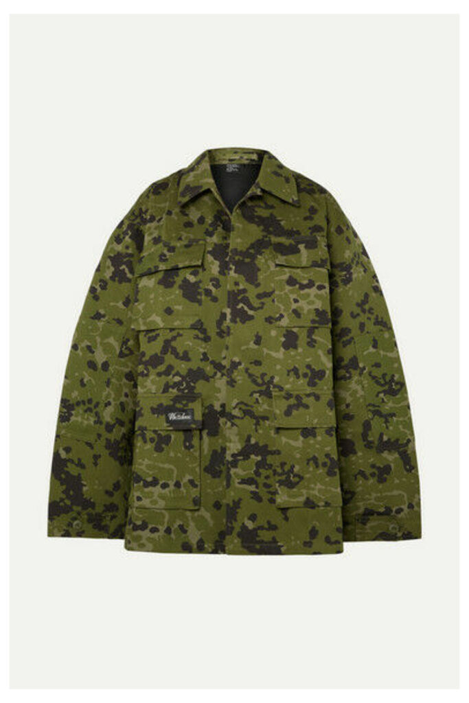 we11done - Camouflage-print Cotton Jacket - Army green