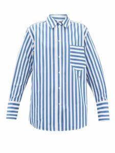 Saloni - Ginny Hydrangea Print Silk Crepe Midi Dress - Womens - Red Multi