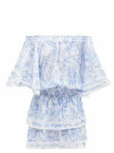 Yves Salomon - Collarless Shearling Coat - Womens - Beige