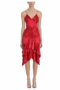 Alexandre Vauthier Ruffle Slip Dress