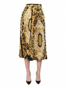 Versace Pleated Midi Skirt