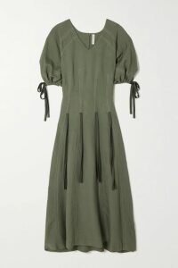 Blazé Milano - Everyday Double-breasted Linen And Cotton-blend Blazer - Blue