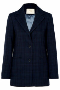 Maje - Checked Twill Blazer - Navy
