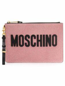 Moschino glitter pouch - Pink