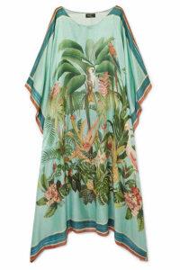PatBO - Paradise Printed Modal And Silk-blend Kaftan - Green