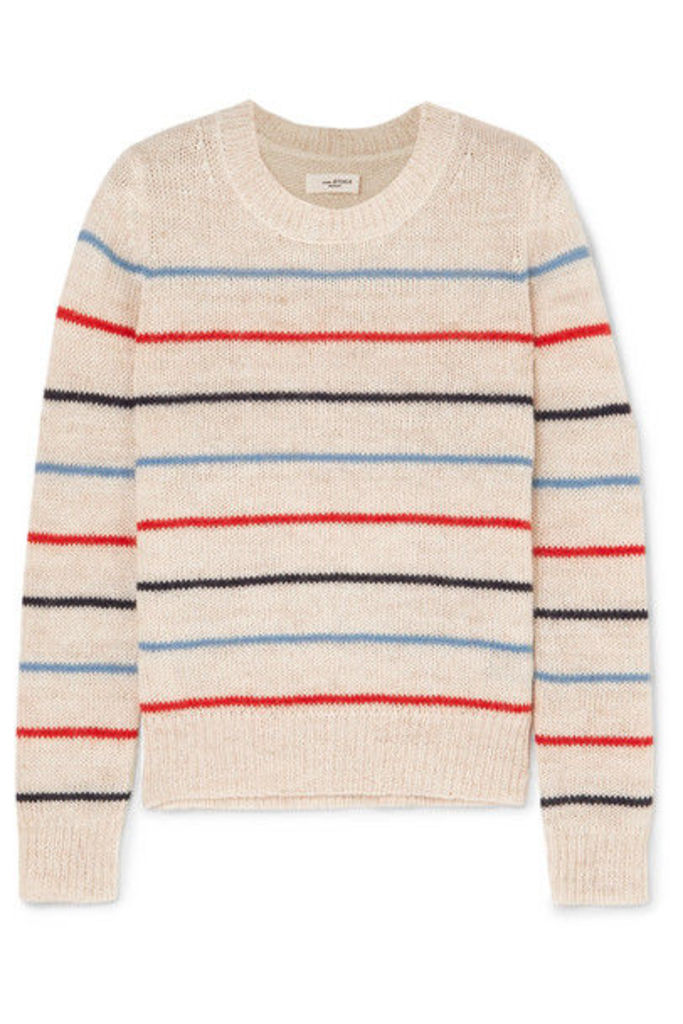 Isabel Marant Étoile - Gian Striped Alpaca And Wool-blend Sweater - Ecru
