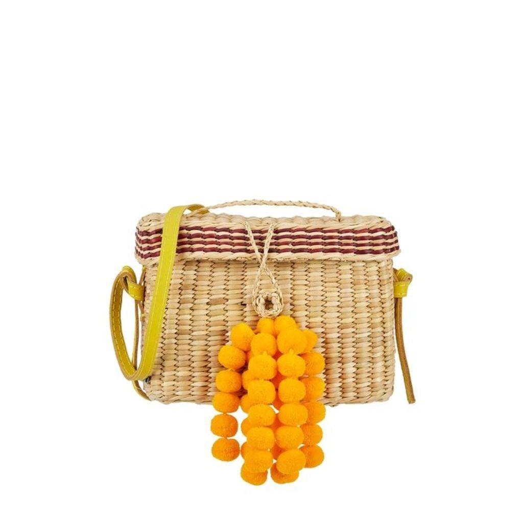 NANNACAY Roge Small Pompom Basket Bag