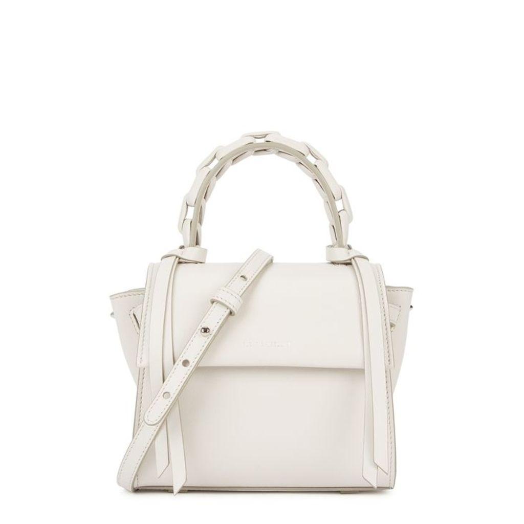 Elena Ghisellini Angel Pearl Leather Top Handle Bag