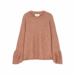 3.1 Phillip Lim Rust Mélange Knitted Jumper