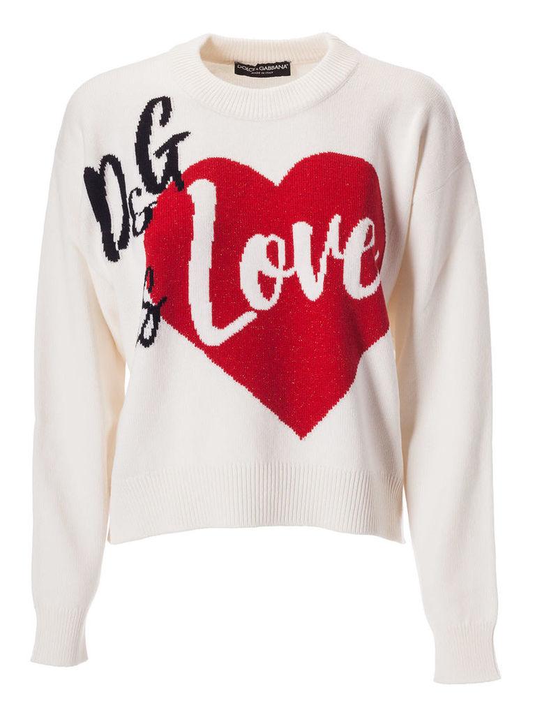 Dolce & Gabbana Love Embroidered Sweater