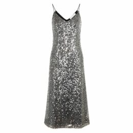 Walk Of Shame Black Sequin Slip Dress
