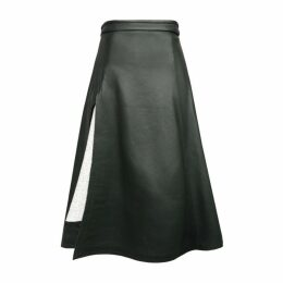 Jamie Wei Huang Tanya Leather Skirt Green