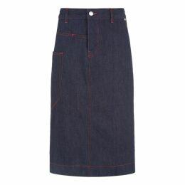 Joseph Kenneth Denim Stretch Skirt