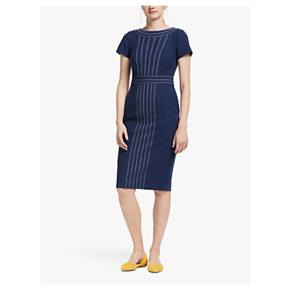 Boden Kitty Textured Dress, Navy