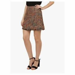 Ted Baker Lorelas Mini A-Line Skirt, Black/Multi