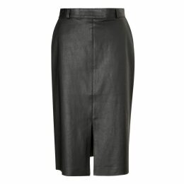 Baukjen - Flynn Leather Skirt In Caviar Black