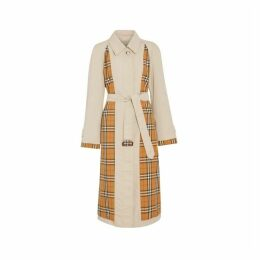 Burberry Vintage Check And Tropical Gabardine Car Coat