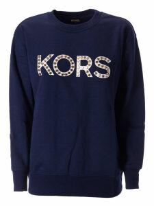 Michael Kors Logo Studded Sweatshirt