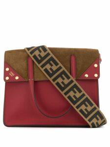 Fendi FF cross body tote bag - Red