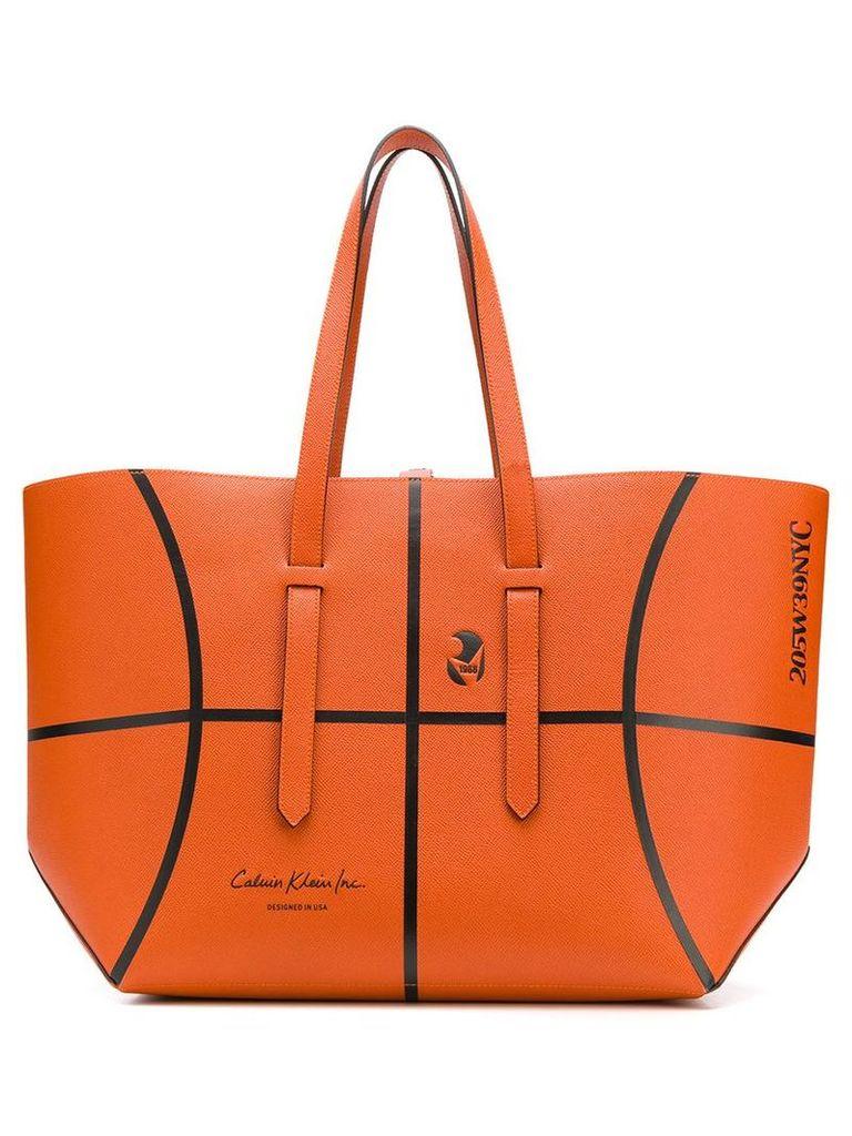 Calvin Klein 205W39nyc Basketball ball tote bag - Orange