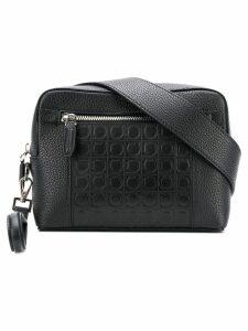 Salvatore Ferragamo Gancio embossed crossbody bag - Black