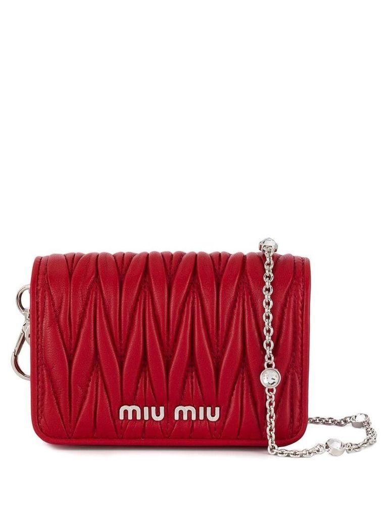 Miu Miu chain Micro bag - Red