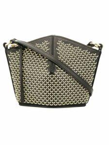 Alexander McQueen half-ring stud crossbody bag - Black