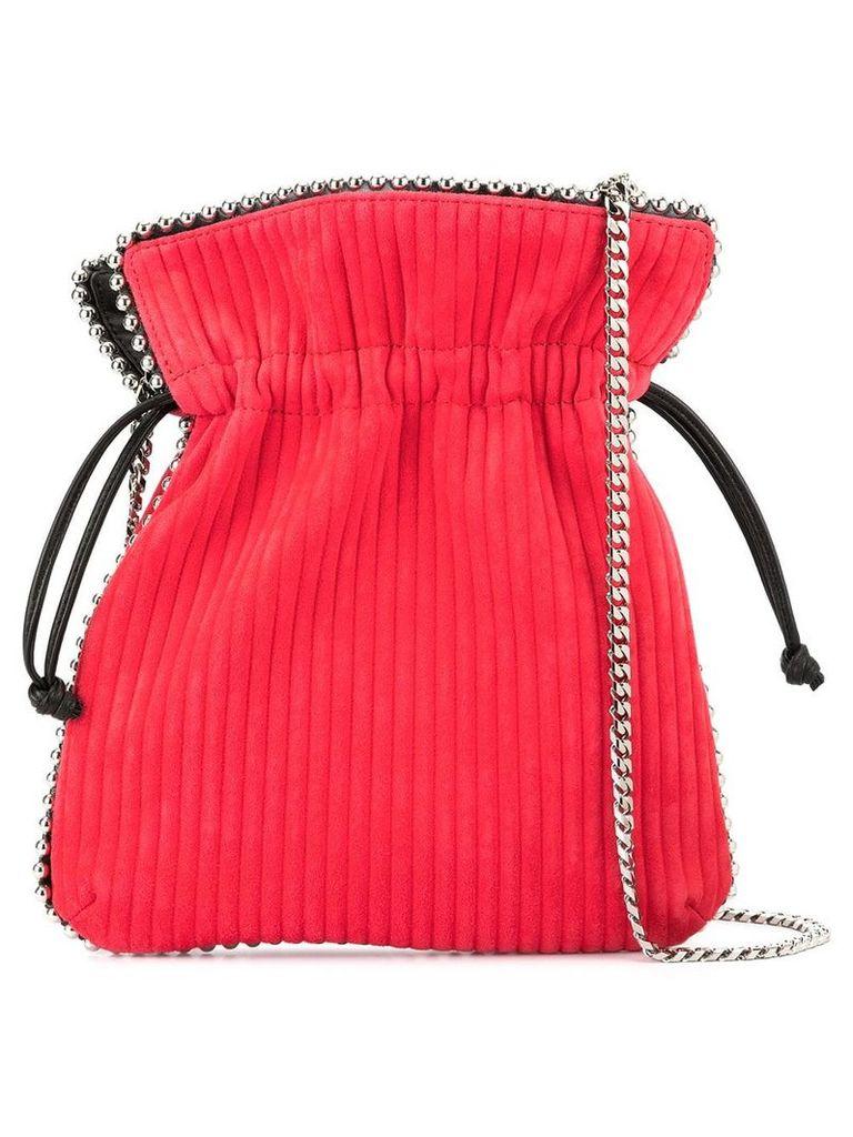 Les Petits Joueurs metal trim bucket bag - Red