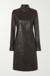 Miu Miu - Belted Leopard-print Glossed-pu Cotton Trench Coat - Brown