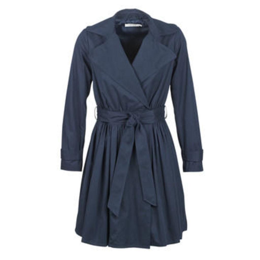 Naf Naf  BIROSALIE V2  women's Trench Coat in Blue