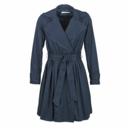Naf Naf  BIROSALIE V2  women's Trench Coat in Blue