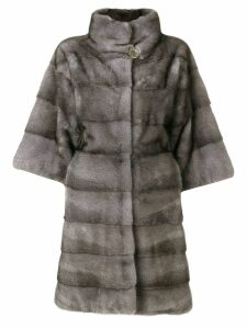 Liska ribbed fur coat - Blue