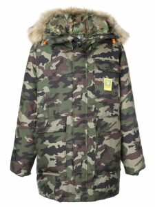 Brumal camouflage print hooded coat - Green