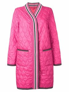 Ermanno Scervino quilted cardigan style coat - Pink