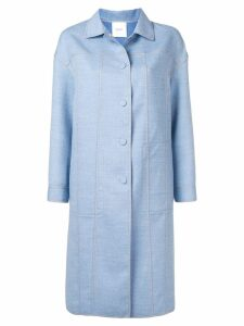 Agnona single-breasted fitted coat - Blue
