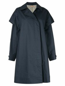 Nehera oversized single-breasted coat - Blue
