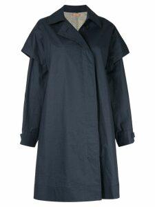 Nehera oversized single-breasted coat - Blue