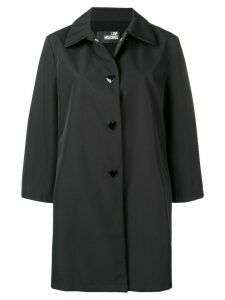 Love Moschino single breasted raincoat - Black