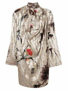Vivienne Westwood long-sleeve flared dress - Neutrals