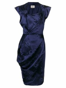 Vivienne Westwood sleeveless shift midi dress - Blue