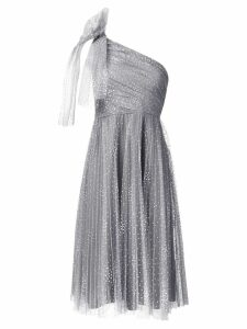 Red Valentino dotted tulle one-shoulder dress - Grey