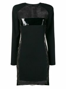 Dsquared2 floral lace mini dress - Black